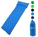 BIFY Isomatte Camping Schlafmatte Ultraleicht Kleines Packmaß. Aufblasbare Luftmatratze für Outdoor Camping, Reise,Trekking und Backpacking (Dunkelgrün)