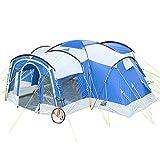 Skandika Nimbus für 8 Personen   Campingzelt mit 3 Schlafkabinen, wasserdicht, 5000 mm Wassersäule, 2,15 m Stehhöhe, versetzbare Frontwand, großer Wohnraum