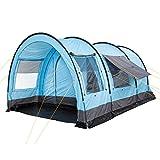 CampFeuer Tunnelzelt für 6 Personen Relax6   Variables Tunnelzelt mit abtrennbarer Schlafkabine und 5.000 mm Wassersäule   Gruppenzelt   Campingzelt (hellblau-grau)
