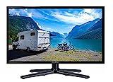 Reflexion LEDW-19 Wide-Screen LED-Fernseher (19 Zoll) für Wohnmobile mit DVB-T2 HD, Triple-Tuner und 12 Volt Kfz-Adapter (12 V / 24 V, HD Ready, HDMI, USB, EPG, CI+, DVB-T Antenne), schwarz