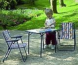 BEST 35500020 Kinder-Camping-Tisch 60 x 40 cm, blau