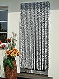 Leguana Handels GmbH Türvorhang Flauschvorhang Flauschi Chenille 100x230 silberweiss