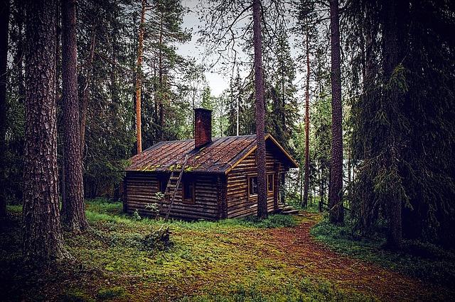 Zelt oder Hütte